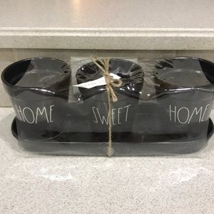 "Rae Dunn ""Home Sweet Home""  Black Set NWT"